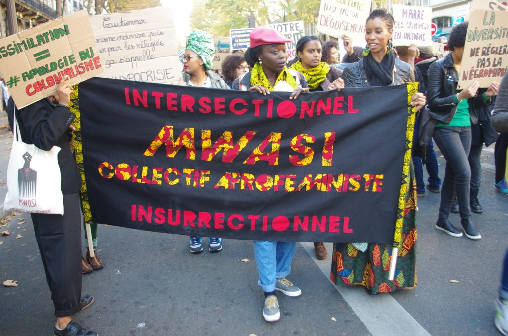 Mwasi Collectif at the Marche de la Dignité, October 2015. Photo: matelo971/Flickr.
