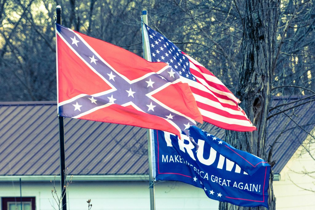 American and Confederate flags. Photo: Don Sniegowski/Flickr.