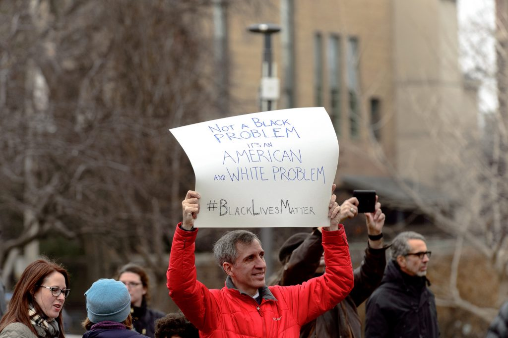 Black Lives Matter rally in December 2014. Photo: niXerKG/Flickr.