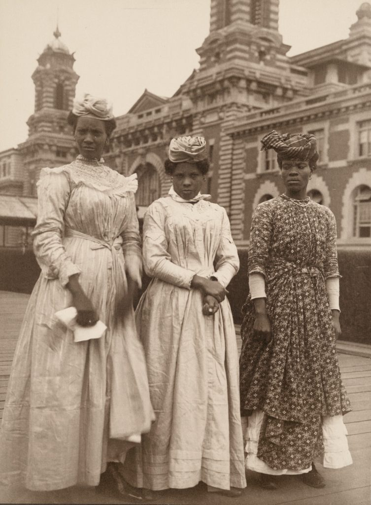 """Three women from Guadeloupe,"" Augustus F. Sherman, Ellis Island Series, The New York Public Library Digital Collections."