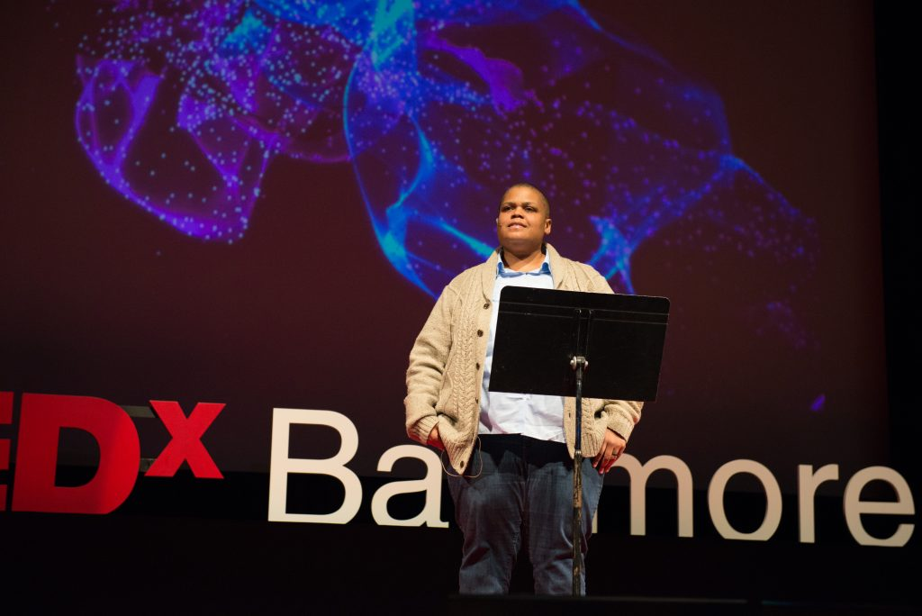 Keeanga-Yamahtta Taylor speaking at TEDxBaltimore in January 2016. Photo: TEDxBaltimore/Flickr.