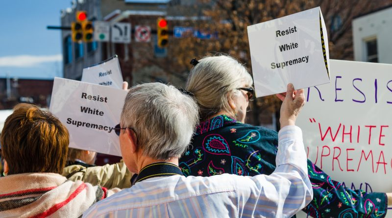 Protest against white supremacy, February 2017. Photo: Flickr/cool revolution.