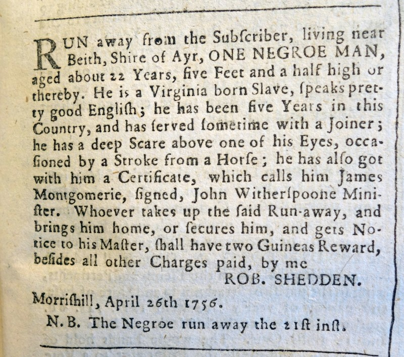 Enslaved People in Eighteenth-century Britain: An Interview with Nelson Mundell